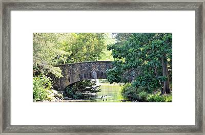 Old Stone Walkway Framed Print