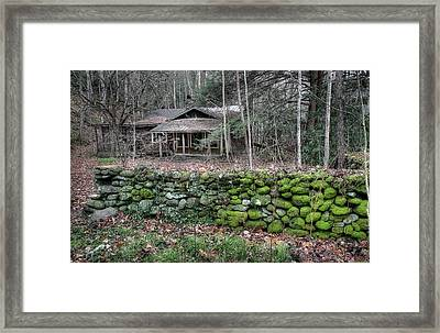 Old Stone Wall Framed Print by Mike Eingle