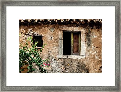 Old Stonewall Taormina Sicily Framed Print