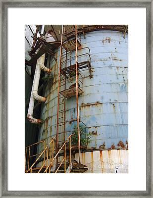 Old Storage Tank Framed Print by Yali Shi