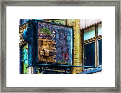 Old Store Sign Pittsburgh Pennsylvania V4 Dsc0917 Framed Print by Raymond Kunst