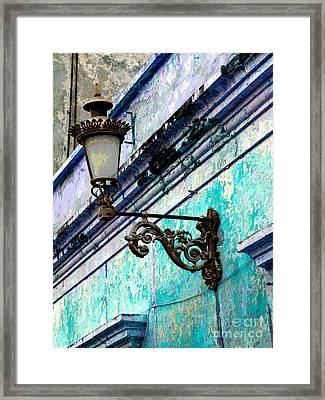 Old Street Lamp By Darian Day Framed Print