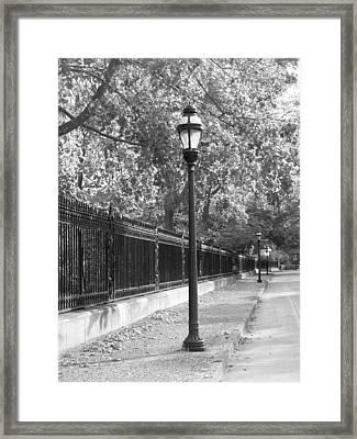 Old Street Lights Framed Print