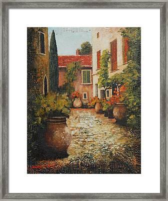 Old Street Of Provence Framed Print by Santo De Vita