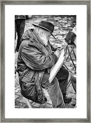 Old Street Painter Framed Print