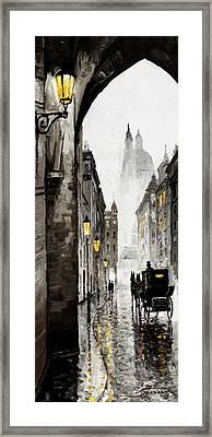 Old Street Framed Print by Yuriy  Shevchuk