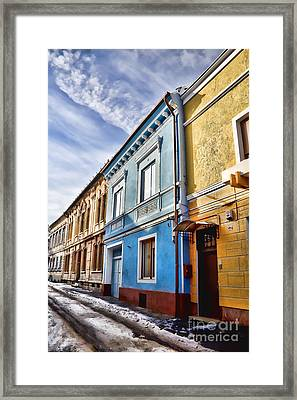 Old Streets Framed Print by Gabriela Insuratelu