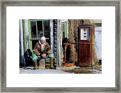 Framed Print featuring the photograph Old Stuff by Edward R Wisell