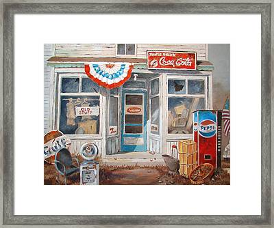 Old Stuff Framed Print by Tony Caviston
