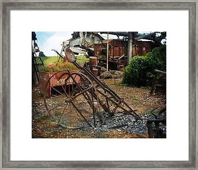 Old Style Farming Framed Print