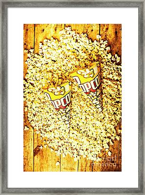 Old Style Popcorn Cones  Framed Print