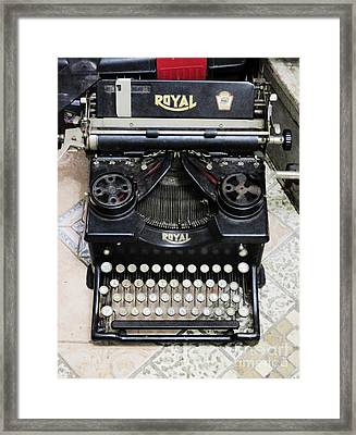 Old Style Royal Typewriter  Framed Print