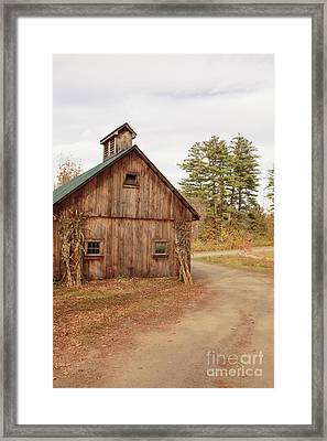 Old Sugar Shack Farm Plainfield New Hampshire Framed Print