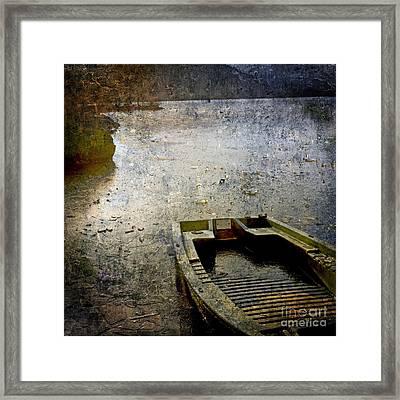 Old Sunken Boat. Framed Print by Bernard Jaubert