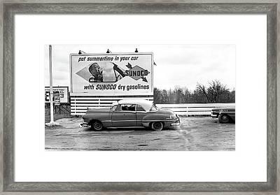 Old Sunoco Sign Framed Print