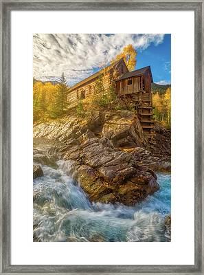 Old Sunrise Along The River Framed Print by Darren White