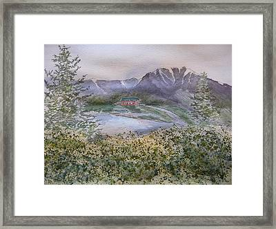 Old Susitna Lodge Framed Print