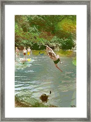 Old Swimming Hole Framed Print