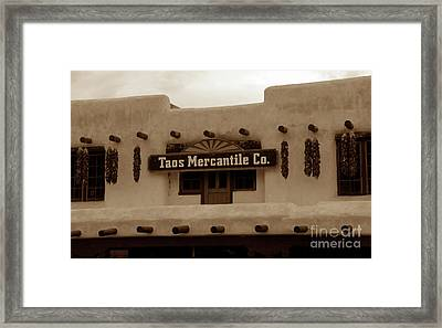 Old Taos Framed Print by David Lee Thompson