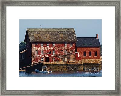 Old Tarr And Wonson Paint Factory. Gloucester, Massachusetts Framed Print
