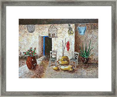 Old Tavern In Chios Greece Framed Print by Viktoriya Sirris