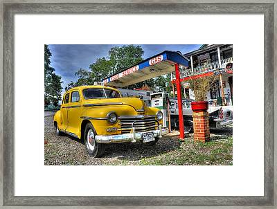 Old Taxi 1 Framed Print by Todd Hostetter