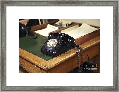 Old Telephone Framed Print by Patricia Hofmeester