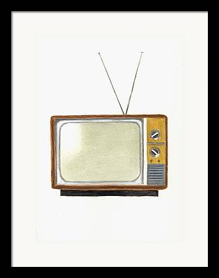 Television Paintings Framed Prints