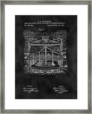 Old Theater Stage Patent Framed Print