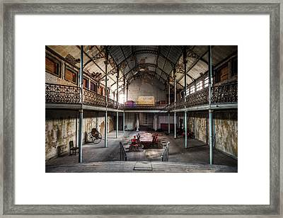 Old Theatre In Decay - Urban Exploration Framed Print by Dirk Ercken