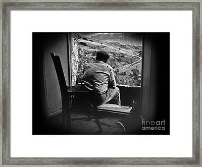 Framed Print featuring the photograph Old Thinking by Bruno Spagnolo