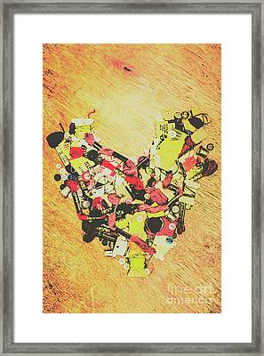 Old Threads And Hearts Framed Print