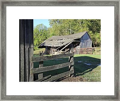 Old Tilted Barn Indiana Framed Print