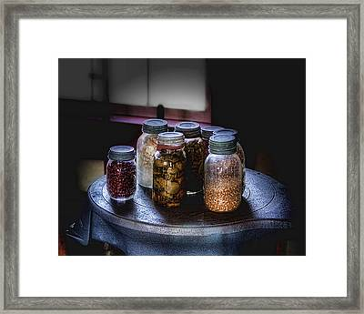 Old-time Canned Goods Framed Print