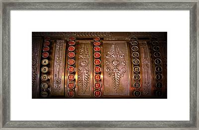 Old Time Cash Machine Framed Print
