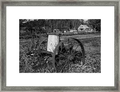 Old Time Farming Framed Print by Karol Livote