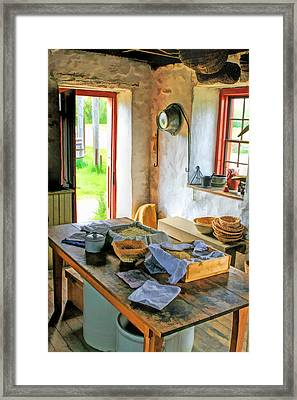 Old Time Kitchen At Old World Wisconsin Framed Print by Christopher Arndt
