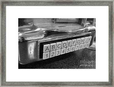 Old Time Rock And Roll Framed Print
