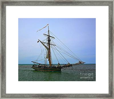 Old Time Sail Framed Print by Robert Pearson