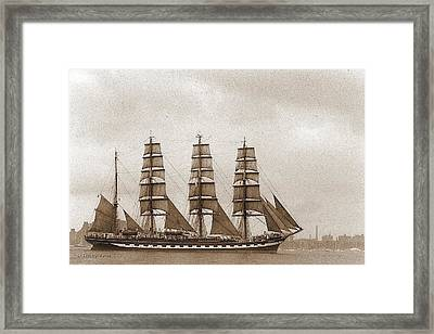 Old Time Schooner Framed Print