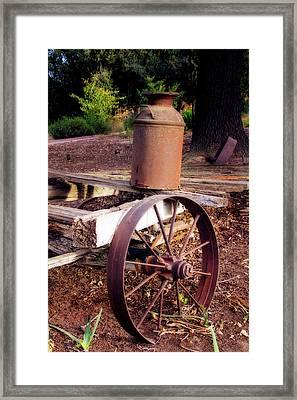 Old Time Wagon Framed Print