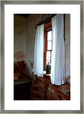 Old Time Window Framed Print