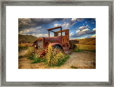 Old Timer Bannack Montana Framed Print by Bob Christopher