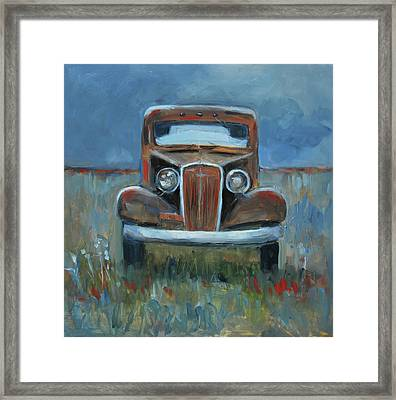 Framed Print featuring the painting Old Timer by Billie Colson