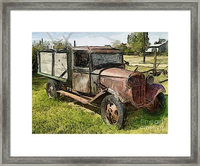 Old Timer Framed Print by Murphy Elliott