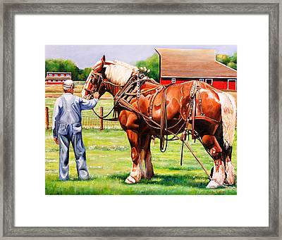 Old Timers Framed Print by Toni Grote