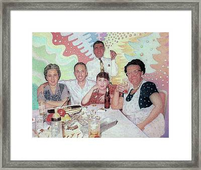 Old Times And Polka Music Framed Print by Ben Sapia