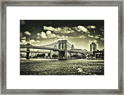Old Times In Brooklyn Framed Print by Alessandro Giorgi Art Photography