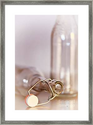 Old Timey Bottles Framed Print