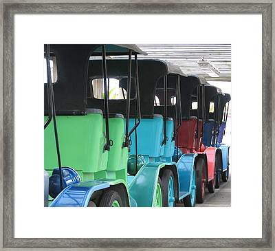 Old Timey Cars Framed Print by Kelly Mezzapelle